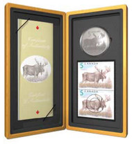 2004 MOOSE $5 COIN & STAMP SET