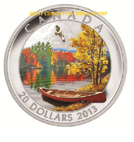 2013 $20 FINE SILVER COIN AUTUMN BLISS LIMITED MINTAGE OF 7,500