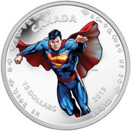 2013 $15 FINE SILVER COIN - 75TH ANNIVERSARY OF SUPERMAN TM: MODERN DAY