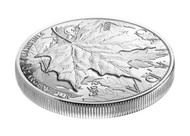 2013 $5 FINE SILVER HIGH RELIEF PIEDFORT - 25TH ANNIVERSARY OF THE SILVER MAPLE LEAF