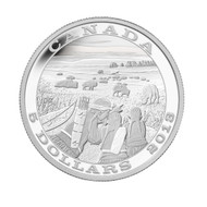 2013 $5 FINE SILVER COIN - TRADITION OF HUNTING - BISON