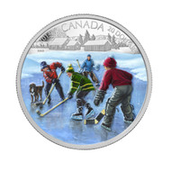 2014 $20 FINE SILVER COIN - POND HOCKEY - QUANTITY SOLD: 7362