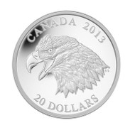 2013 $20 FINE SILVER COIN - THE BALD EAGLE: PORTRAIT OF POWER