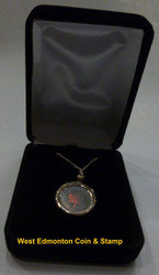 2003 1/20 OUNCE HOLOGRAM SILVER MAPLE LEAF NECKLACE