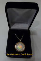 2003 $2 MAPLE LEAF HOLOGRAM NECKLACE COIN IS PURE SILVER 1/10 OF AN OUNCE