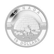 2014 $10 FINE SILVER COIN O CANADA - THE IGLOO