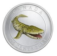 2014 25-CENT GLOW IN THE DARK COLOURED COIN TIKTAALIK