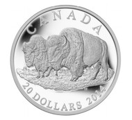 2014 $20 FINE SILVER COIN THE BISON: THE BULL AND HIS MATE