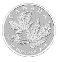 2014 $10 FINE SILVER COIN - SILVER MAPLE LEAF