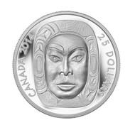 2014 $25 FINE SILVER COIN MATRIARCH MOON MASK