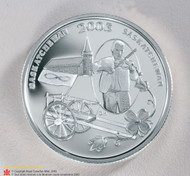 2003 50 CENT STERLING SILVER COIN - FESTIVALS OF CANADA - BACK TO BATOCHE QUANTITY SOLD: 2003
