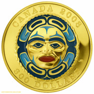 2008 $300 GOLD COIN - FOUR SEASONS MOON MASK - QUANTITY SOLD: 544