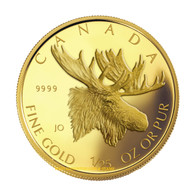 2004 1/25 OZ GOLD COIN - MAJESTIC MOOSE - QUANTITY SOLD: 24,992
