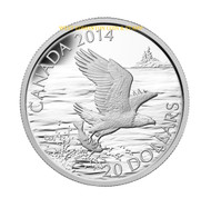 2014 $20 FINE SILVER COIN BALD EAGLE