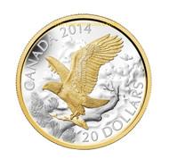 2014 $20 FINE SILVER COIN PERCHED BALD EAGLE