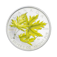 2006 SILVER MAPLE LEAF COLOURED COIN - SILVER MAPLE - QUANTITY SOLD: 14,157