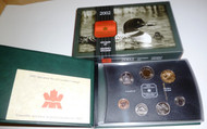 2002 7- COIN SPECIMEN SET - FAMILY OF LOONS LOONIE