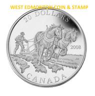 2008 $20 FINE SILVER COIN - AGRICULTURE TRADE