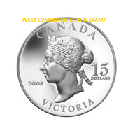 2008 $15 VIGNETTES OF ROYALTY HIGH RELIEF SERIES - QUEEN VICTORIA (1ST COIN IN SERIES)