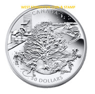2006 $50 5OZ. FINE SILVER COIN - FOUR SEASONS