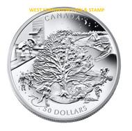 2006 $50 5OZ. FINE SILVER COIN - FOUR SEASONS