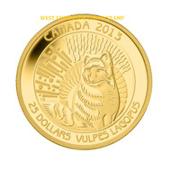 2013 $25 PURE GOLD COIN ARCTIC FOX - UNTAMED WILDERNESS