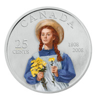 2008 - 25 CENT COIN - CELEBRATING THE 100TH ANNIVERSARY OF ANNE OF GREEN GABLES - QUANTITY SOLD: 32,795