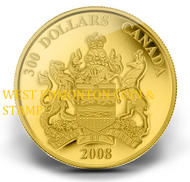2008 $300 GOLD COIN - PROVINCIAL COAT OF ARMS: ALBERTA - QUANTITY SOLD: 344