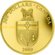 2009 $300 GOLD COIN - YUKON COAT OF ARMS - QUANTITY SOLD: 325