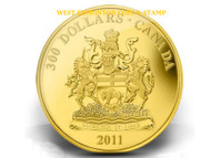 2011 $300 GOLD COIN - MANITOBA COAT OF ARMS