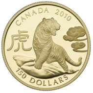 2010 $150 GOLD COIN - YEAR OF THE TIGER - QUANTITY SOLD: 2,500