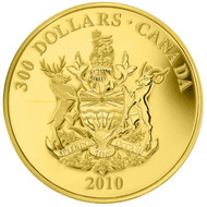2010 $300 GOLD COIN - BRITISH COLUMBIA COAT OF ARMS QUANTITY SOLD: 421