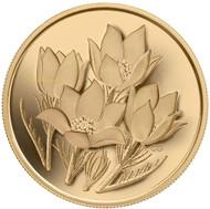 2010 $350 PURE GOLD COIN - PRAIRIE CROCUS - QUANTITY SOLD: 775