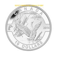 2014 $10 FINE SILVER COIN - O CANADA - CANADA GOOSE