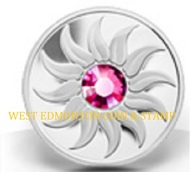 2011 $3 FINE SILVER COIN - BIRTHSTONE COLLECTION - OCTOBER - TOURMALINE