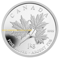 2011 $250 KILO SILVER COIN - MAPLE LEAF FOREVER - QUANTITY SOLD; 997