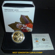 2008 OLYMPIC $75 14KT GOLD COIN - FOUR HOST FIRST NATIONS
