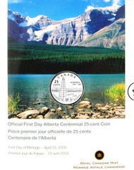 2005 ALBERTA 25-CENT FIRST DAY COVER