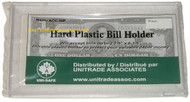 UNI-SAFE - HARD PLASTIC BILL HOLDER