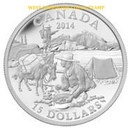 2014 $15 FINE SILVER COIN EXPLORING CANADA: THE GOLD RUSH