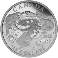 2015 $15 FINE SILVER COIN EXPLORING CANADA: SCIENTIFIC EXPLORATION