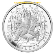 2014 LIMITED EDITION PROOF SILVER DOLLAR 75TH ANN. OF THE DECLARATION OF THE SECOND WORLD WAR