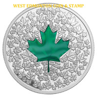 2014 $20 FINE SILVER COIN MAPLE LEAF IMPRESSION
