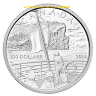 2014 $100 FINE SILVER COIN 100TH ANN. OF THE DECLARATION OF THE FIRST WORLD WAR
