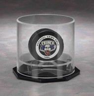 ROUND SINGLE PUCK / BASEBALL ACRYLIC DISPLAY CASE