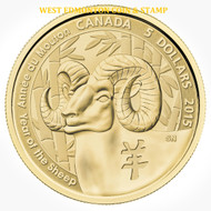 2015 $5 PURE GOLD COIN YEAR OF THE SHEEP