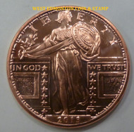 STANDING LIBERTY 1 OZ. COPPER ROUND