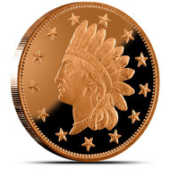 INDIAN PENNY 1 OZ. COPPER ROUND