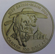 1989 14KT $100 GOLD COIN 350TH ANNIVERSARY OF THIS FIRST SELF-SUFFICIENT SETTLEMENT