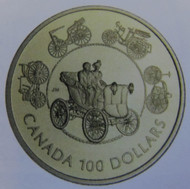 1993 14KT $100 GOLD COIN - THE HORSELESS CARRIAGE